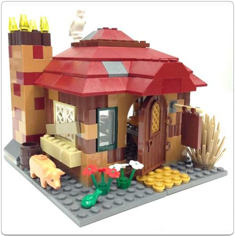 lego cottage lego 174 set 4840 the burrow cottage alternate build