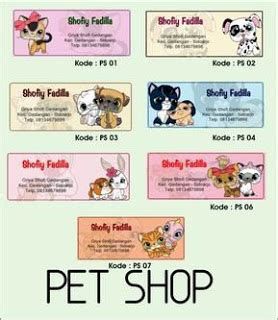 Stiker Label Nama Poto Ukuran 35 Cm X 9 Cm pet shop stiker label nama