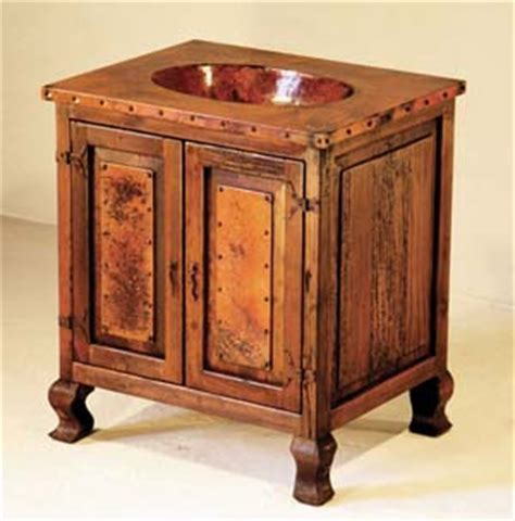 copper sink cabinet with 2 doors western bath vanities