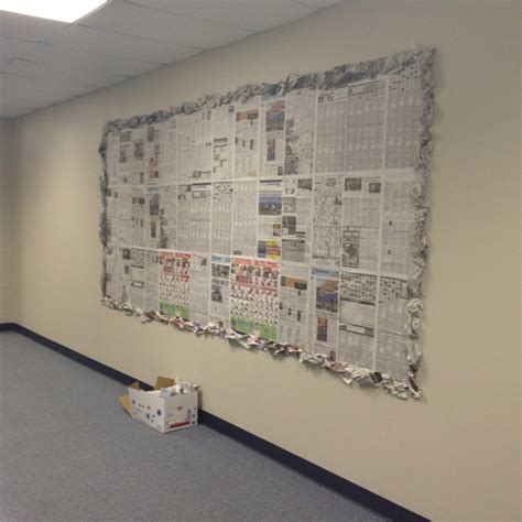 newspaper themed bulletin board reuse old newspaper as a bulletin board bunch up