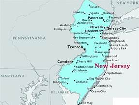 map of new jersey state map of usa united states maps