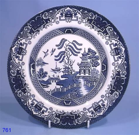 english willow pattern english ironstone willow pattern dinner plate collectable
