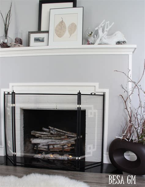 mini fireplace screen fireplace screen mini makeover besa gm