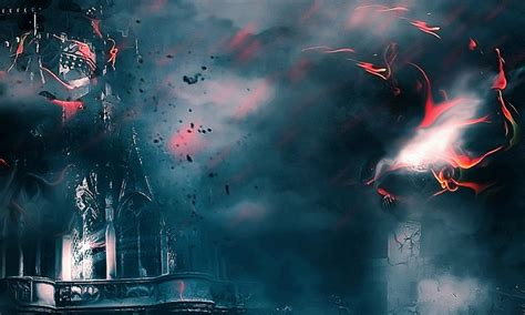 create castle  siege  dark force scene