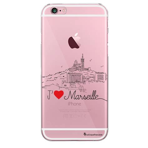 coque rigide transparent jaime marseille pour iphone