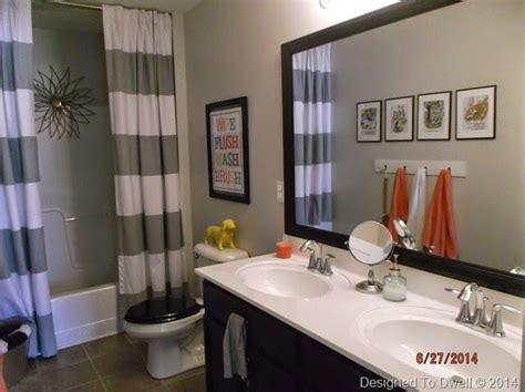 boys bathroom decorating ideas boy girl shared bathroom neutral with pops of color