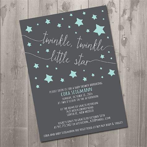printable star invitations twinkle twinkle baby shower invitation diy printable