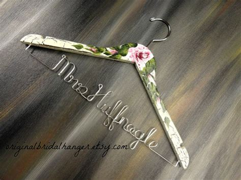shabby chic hangers wedding dress hangers crackled painted