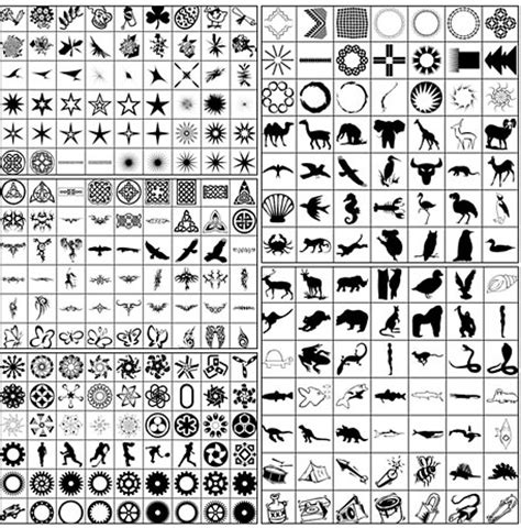 pattern shapes photoshop 2500 free custom photoshop shapes inspirationfeed