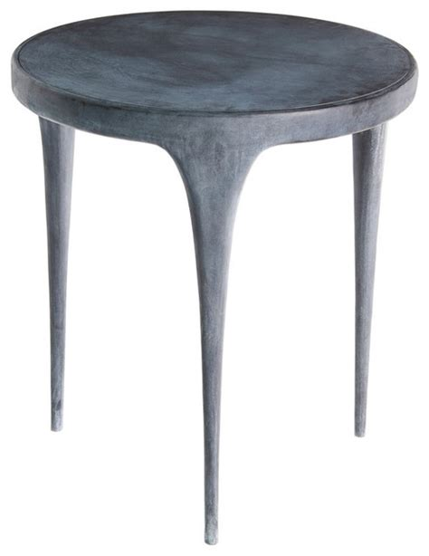design cast aluminum side table by reeves modern