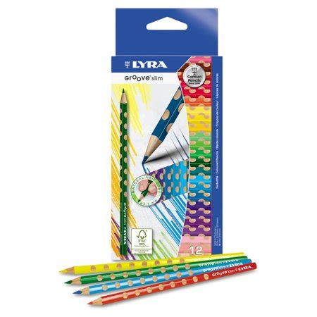 lyra colored pencils lyra groove slim colored pencils assorted 12 pack