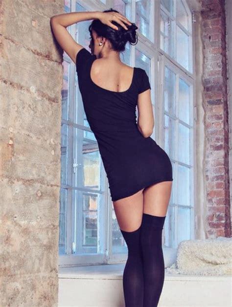 dress black  black dress stockings fashion sexy