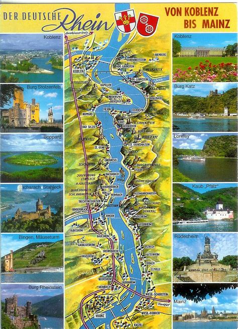 rhine germany map map of the german rhine river valley remembering letters