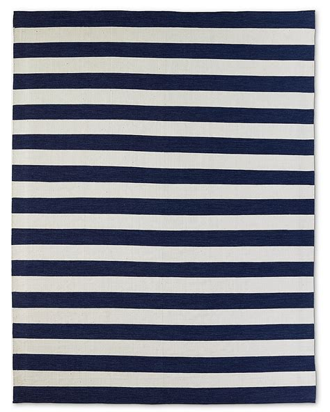 Navy Stripe Outdoor Rug Perennials 174 Bold Stripe Outdoor Rug Navy