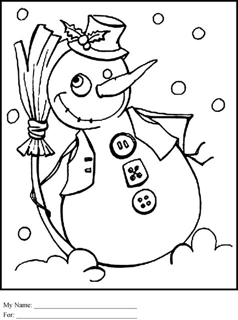 free coloring pages of frosty the snowman