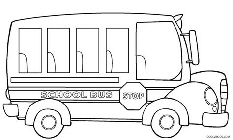 school bus printable coloring pages