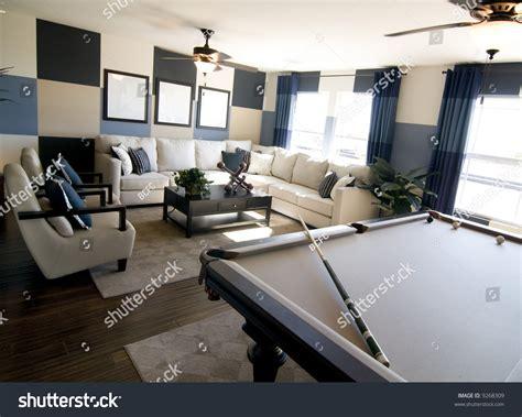 modern home design games stylish modern luxury game room interior stock photo