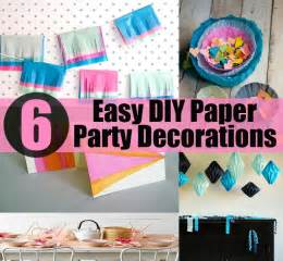 easy to make decorations for 6 easy diy paper decorations diy cozy home world