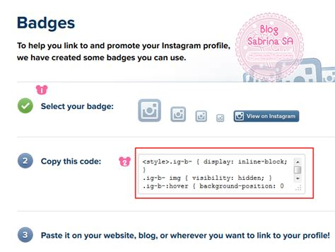 javascript widget pattern sabrina sa tutorial letak widget instagram dalam blog 2 cara