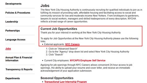 nyc housing authority application status nycha job application apply online