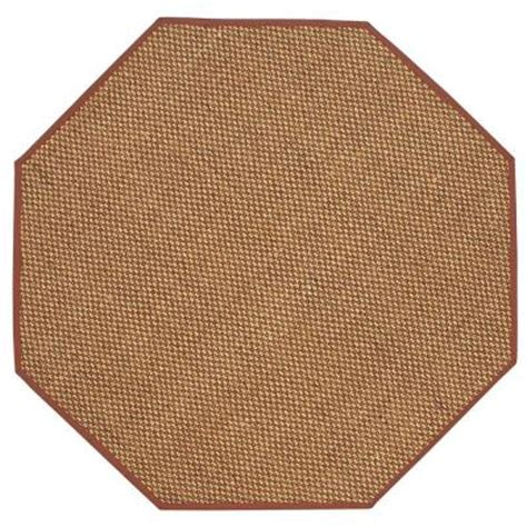 octagon rug 8 home decorators collection adirondack rust 8 ft octagon area rug 4066998180 the home depot