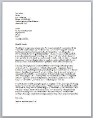 physician assistant cover letter exles cover letter physician assistant cover letter sle
