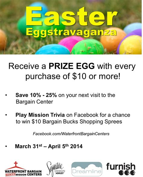 Trivia Sweepstakes - easter eggstravaganza trivia prizes waterfront thrift