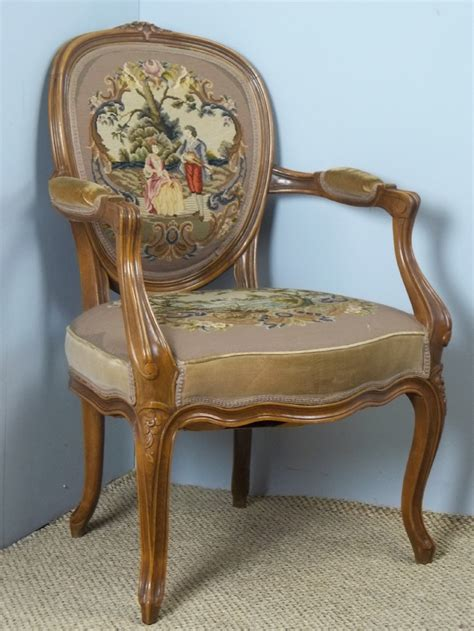 antique occasional chairs uk a fabulous quality stitched needlepoint