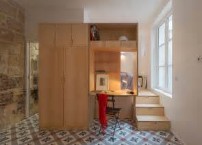 Tiny Appartment by A Small Parisian Apartment Gets A Curvaceous Makeover