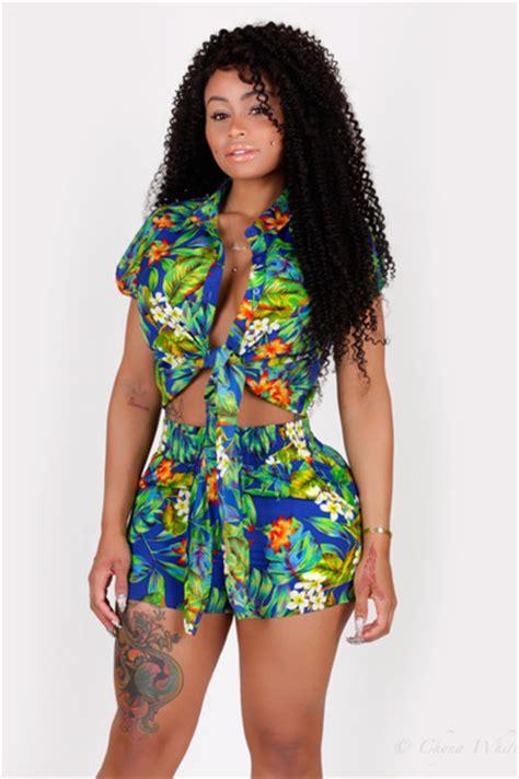Blouse Tropical Set shirt tropical set high waisted shorts crop tops