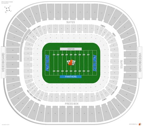 bank of america stadium seating bank of america stadium map roundtripticket me