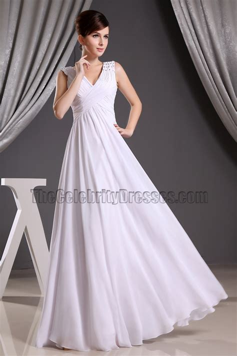 Promo Promo Termurah Dress Gucci V product questions discount white chiffon v neck prom gown evening dresses informal wedding