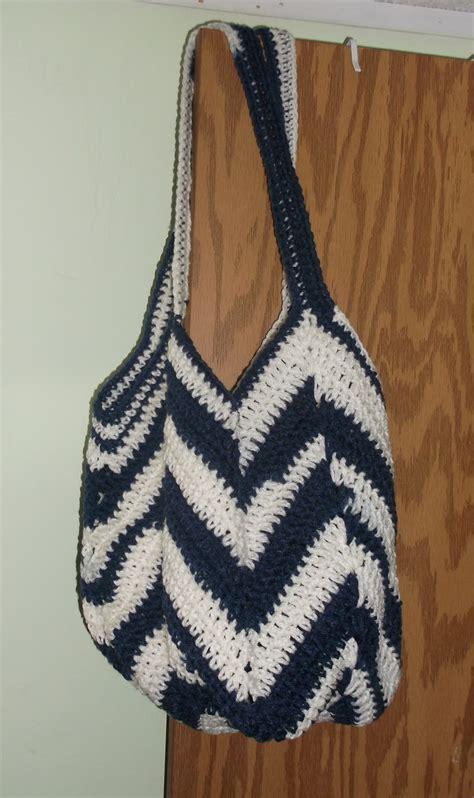 crochet ripple bag pattern crochet solid stitch granny ripple chevron tote shopping