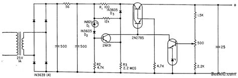 darlington transistor power supply darlington transistor series regulator power supply circuit circuit diagram seekic