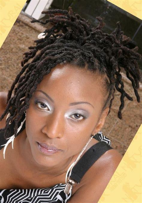 natural locs styles gray twisted locs black women natural hairstyles short