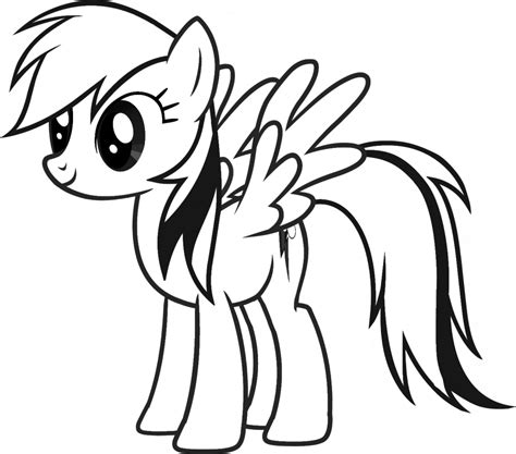 My Little Pony Coloring Pages Of Rainbow Dash | rainbow dash coloring page coloring home