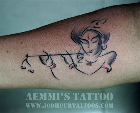 krishna tattoo krishna black white tatoos krishna