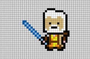 star wars obi wan pixel art brik