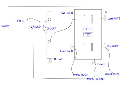 how to wire a gfci outlet with a light switch wiring