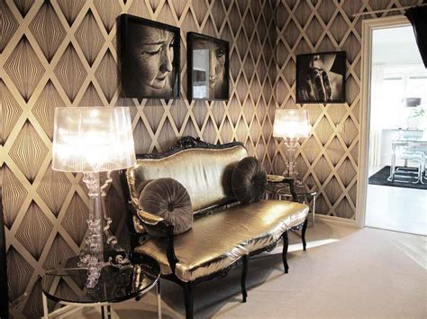 home design gold pc retro modern furniture black and gold interior wallpaper
