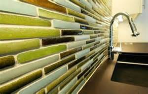 green glass tiles for kitchen backsplashes refresheddesigns green idea eco friendly kitchen