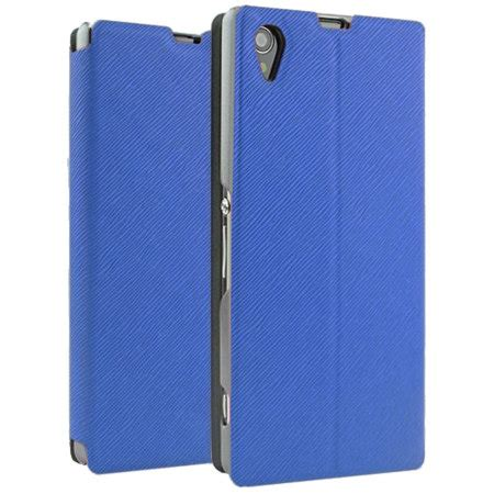 Casing Cover Sarung Pda Book Standing Xperia Z 2 Z2 book flip and stand for sony xperia z1 blue reviews