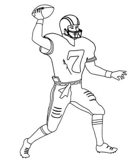 coloring pages of nfl players nfl football player number 7 coloring page jpg 620 215 738