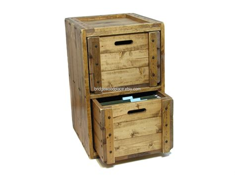 Rustic File Cabinet Solid Wood File Cabinet Rustic Office Filing By Bridgewoodplace