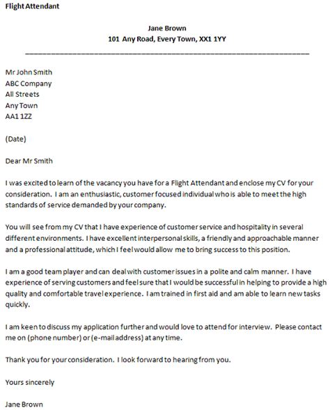 cover letter for cabin crew supervisor flight attendant cover letter exle forums learnist