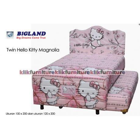 Bed Bigland Tahun 2 in 1 hello magnolia bigland springbed promo diskon