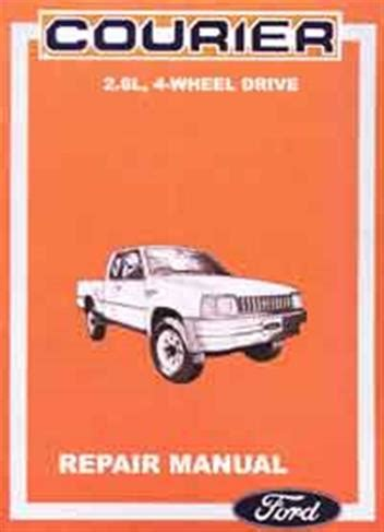 ford courier 4x4 1987 on repair manual ford australia