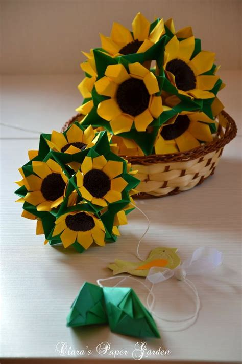 Origami Sunflower Step By Step - 4791 best origami images on