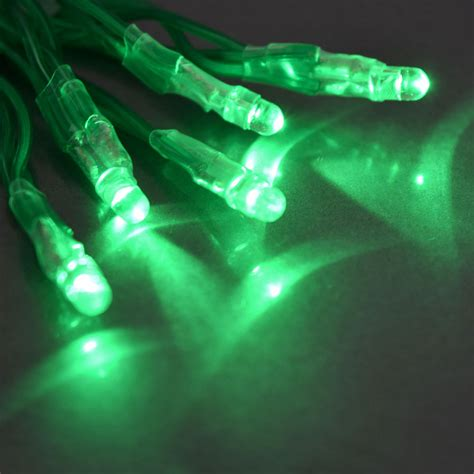 Tiny Led Battery Operated Stringlight Strand 10 Green Bulbs Battery Operated Led Lights