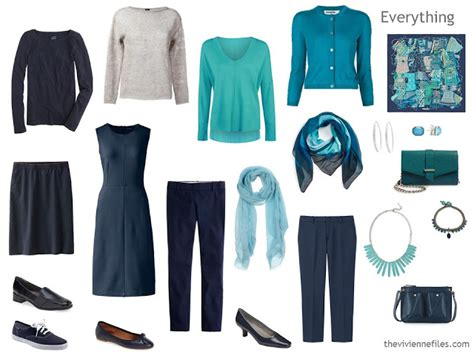 Navy Blue Capsule Wardrobe by 12 Months 12 In 6 Capsule Wardrobes April The